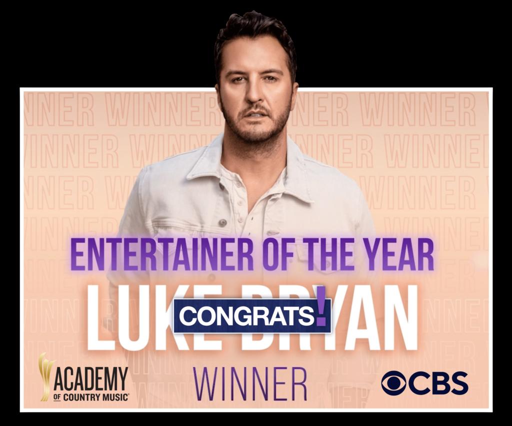 Luke Bryan Entertainer of the Year